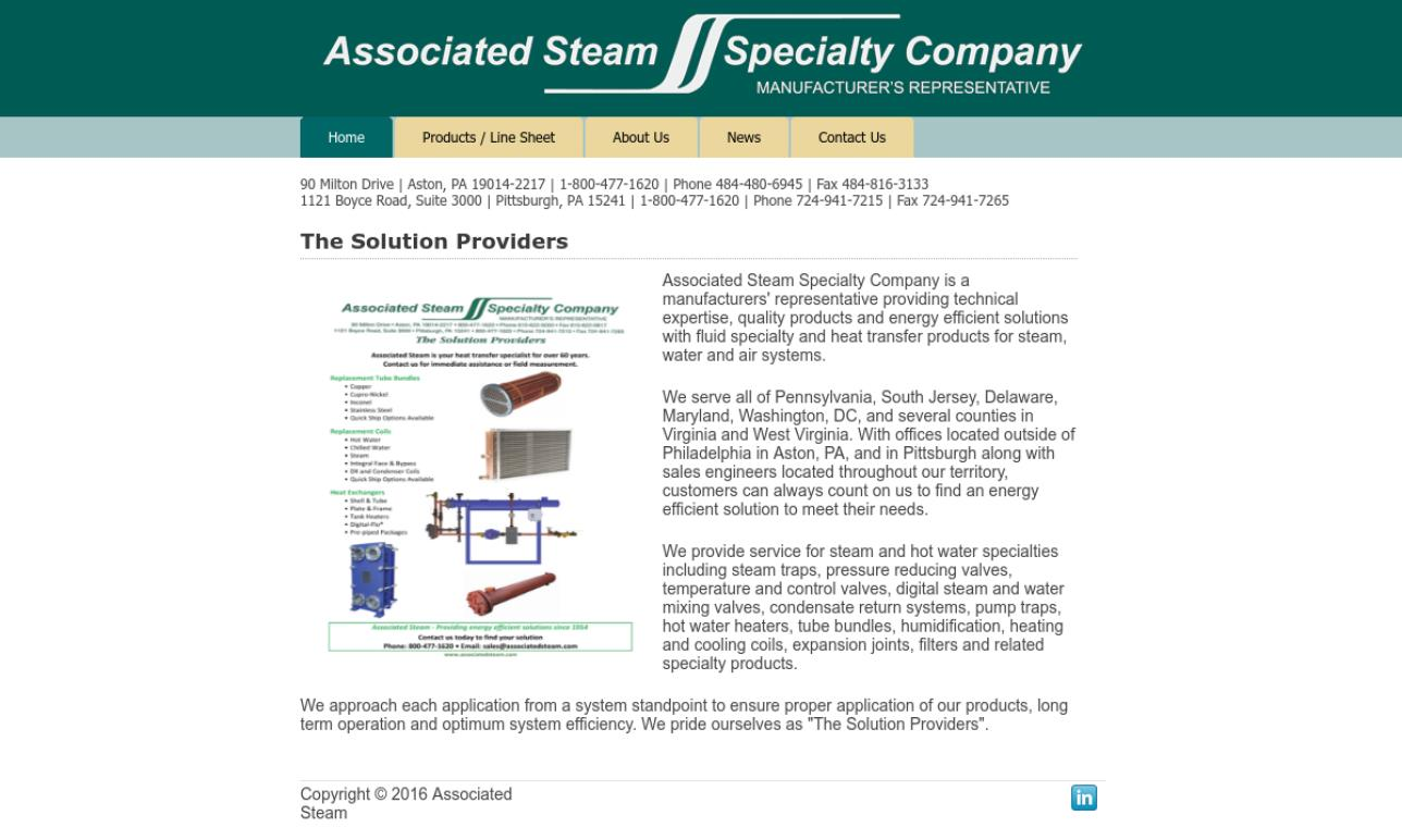 Associated Steam Specialty Co.